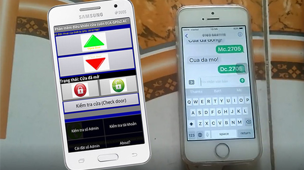 3 loại điều khiển cửa cuốn bằng điện thoại hay dùng nhất